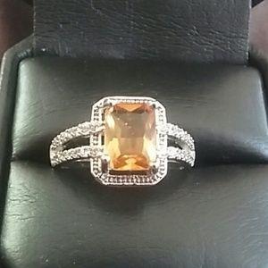 Yellow Citrine Ring